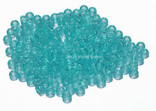 Translucent Green Turquoise 7mm Mini Pony Beads 1000pc made in USA kids crafts