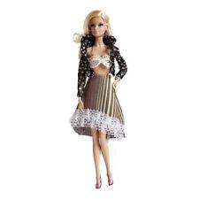 Handmade Barbie Fashion Pack - Black Shirt, Bra & Striped skirt Fits Barbie Doll