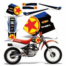 Decal Graphics for Honda XR80-XR100 Dirtbike MX Wrap Motocross Deco 85-00 RED ST