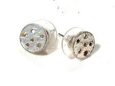 Bijou étain argenté boucles d'oreilles boutons Dolce-Vita earrings