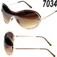 New DG Eyewear Womens Mens Shield Wrap Oval Designer Sunglasses Fashion Shades