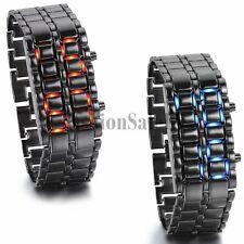 Men's Unique Abco Tech Lava Style Iron Samurai Bracelet LED Wristwatch Watches