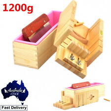 WOODEN SOAP MOLD MOULD FREE CUTTER SILICONE LINER MAKER BOX RECTANGLE CANDLE AU