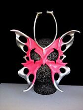 Pink BUTTERFLY Halloween Mask 1 Leather Mask Fairy Masquerade Mask Festival Mask