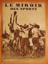 Miroir des Sports N° 750 du 14/2/1934-Rugby-L.O.U.Montferrand gagné par Lyonnais
