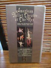 American Ballet Theatre At the Met VHS Video Tape (NEW SEALED)