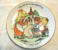 Avon Joan Walsh Anglund School is a new Beginning Plate 1986 Gold trimmed
