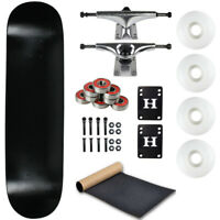 "Moose Complete Skateboard Dip Black 8.25"" With Silver Trucks and White Wheels"