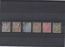1876 - Sage T1 66 à 72, sauf 70, oblitérés (11-068.14)