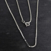 """32/"""" 38/"""" Spring Ring 925 NEW 34/"""" Sterling Silver 1.2mm BOX Chain Necklace 26/"""""""