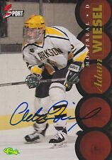 ADAM WIESEL SIGNED CLASSIC 5 SPORT HOCKEY TRADING CARD MONTREAL CANADIENS DRAFT