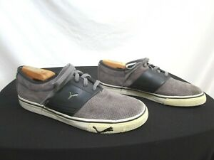 Puma Shoes Sport Lifestyle El Ace Gray Perforated Suede Fashion Sneakers Men 9.5