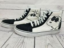 126d1242d2f177 Vans x Peanuts Snoopy Mens Sk8 Hi Sneakers Shoes Black White Charlie Brown  9.5