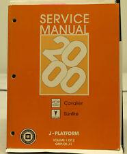 OEM 2000 Chevrolet Cavalier Pontiac Sunfire J Platform Service Manual 2 Volumes