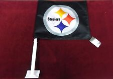 NWT Officially Licensed Pittsburgh Steelers Car Flag New with Tags (SC3)