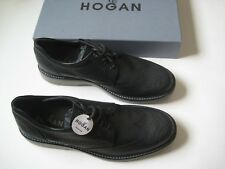 New Hogan By Tod's Laced Derby Oxfords Black Leather Shoes Size UK 9.5,US 10.5