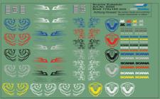 H0/1:87 DIS0500 Decals für Scania R und S, Kennzeichen,Namensschilder