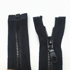 2pcs black RESIN ZIP ZIPS ZIPEER ZIPPERS 27.5inch (70CM) for Clothing or bag