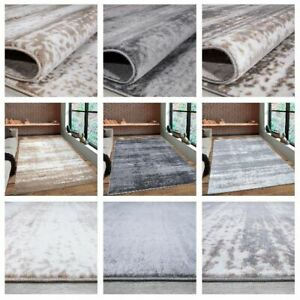 Grey Brown Rugs Modern Living Room Bedroom Geometric Rug Kitchen Large Carpets