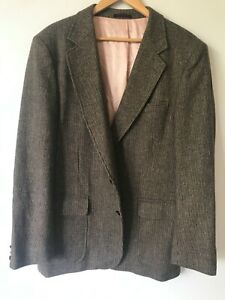 100% Pure Wool English Manor Men's Blazer with Suede Elbow Patches, Sz 44L