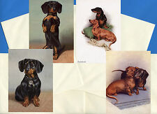 DACHSHUND PACK OF 4 VINTAGE STYLE DOG PRINT GREETINGS NOTE CARDS #4