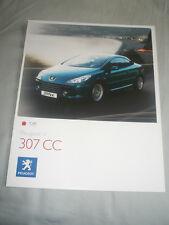 Peugeot 307CC range brochure Feb 2008 French, English & Spanish text