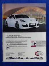 Techart GrandGT Porsche Panamera - Werbeanzeige Reklame Advertisement 2011_ (034