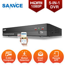 SANNCE 4 Channel 1080P 5in1 HDMI P2P Remote DVR for CCTV Security Camera System