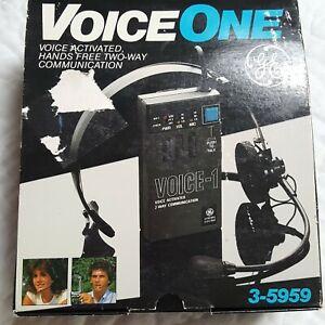 Vtg GE Voice One 3-5959 Voice Activated PTT 2 Way Radio Walkie Talkie 49MHz
