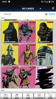 Topps Star Wars Digital Card Trader Classic Art Series 1 Full Set of 16 w/award