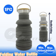 Collapsible Silicone Folded Hiking Gym Water Bottle Sport Outdoor Camping Kettle
