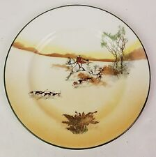 """Antique Royal Doulton Hunting E3804 (1924-1932) 7"""" bread plate #8"""