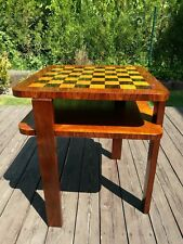 Chess coffee table 20th century Czechoslovakia, restored