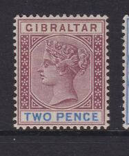 Gibraltar - 1898 2d púrpura y azul ultramar Perfecto Sg.41 (Ref.d 86)