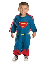 Toddler/Infant FLEECE Superman Halloween Costume 2-4 New Outfit Romper 1T 1-2yrs