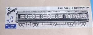 Mallard Models 7mm Brass Metal Kit - GWR 54' Clerestory Corridor Full 3rd  Coach