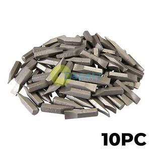 10x Quality 7mm Slotted Screwdriver Bits Inserts CR-V Steel Flathead Magnetic