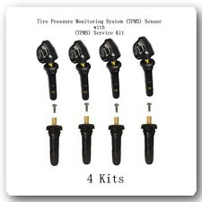 4 Kits Tire Pressure Monitoring System (TPMS) Sensor +4 TPMS Service Kit Fits:GM