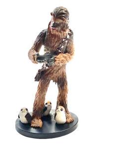 "Star Wars Chewbacca PVC Figure Base Cake Topper 5"" Toy"