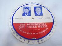 Vintage 1963 Presidential Fact Finder Wheel JFK Kennedy LBJ Free Ship