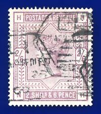 More details for 1884 sg178 2s6d lilac k10(1) nh l1 late mark octagonal good used cv £160 aznr