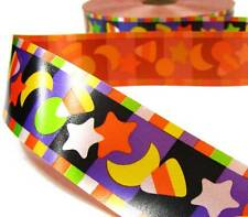 "10 Yards Halloween Candy Corn Party Acetate Ribbon 1 3/8""W"