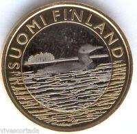 5 Euros Finlandia 2014 Pato @@ NOVEDAD @@ Bimetalica @@ Nº 26 @@