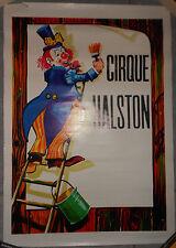 AFFICHE CIRQUE Circus HALSTON Clown Original 80's