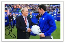Jack Nicklaus + Rory Mcilroy Europa 2014 Ryder Cup foto firmada impresión Golf