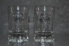 More details for zubrowka bison grass vodka pair of embossed shot glasses, collectible, set of 2