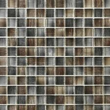 Murano Brown Grey mix Glass mosaics 25x25mm squares in 30x30cm sheets