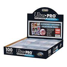 Ultra Pro 9 Pocket Pages Platinum series (100)