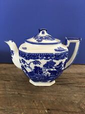 VINTAGE BLUE WILLOW TEAPOT WITH LID JAPAN