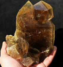 3.1lb New Find NATURAL Clear Golden RUTILATED QUARTZ Crystal Cluster Specimen